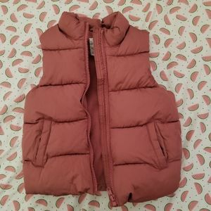Old Navy mauve colored puffy vest